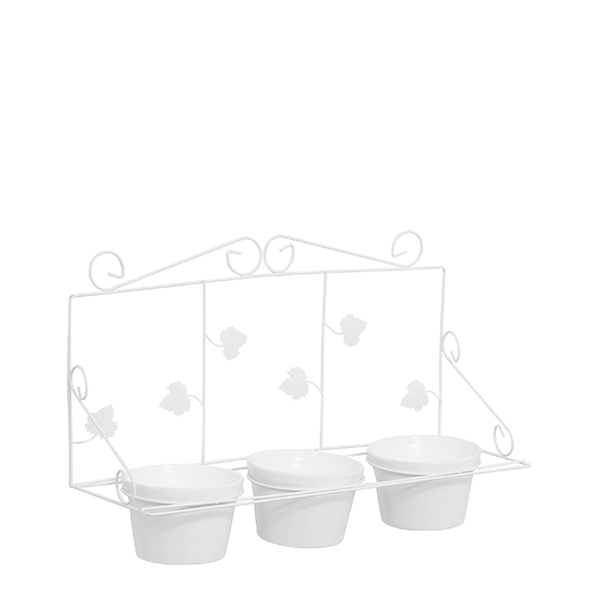 Floreira de Parede c/ 3 Vasos Redondo