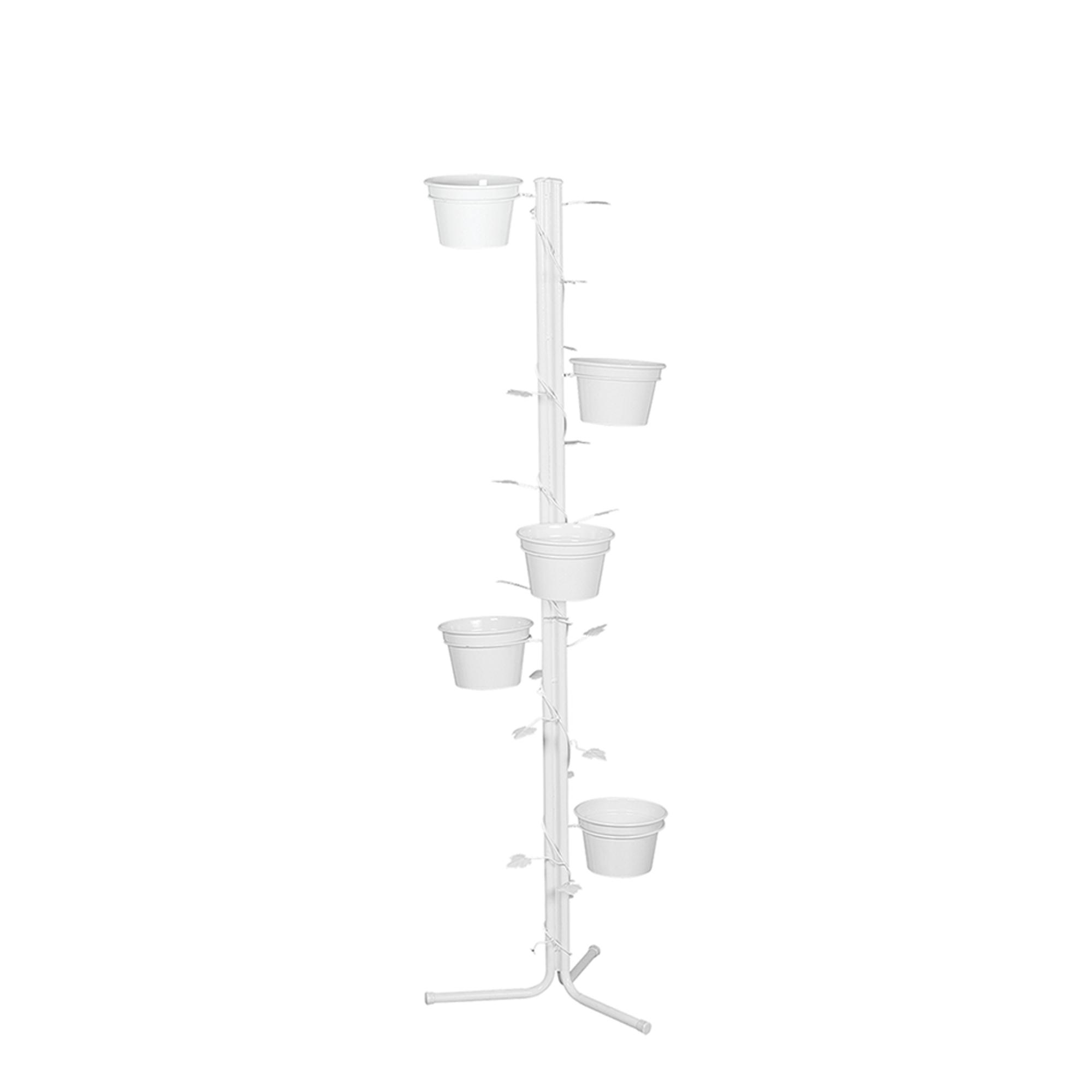 Aspiral Coluna de Chão c/ Folhas c/ 5 Vasos