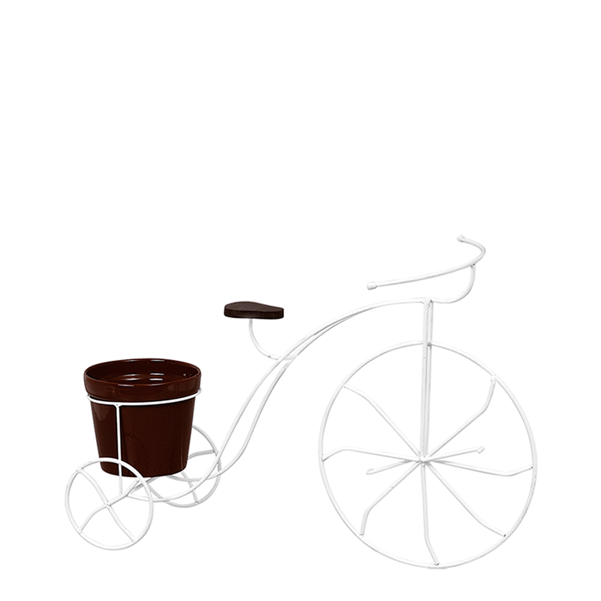 Bicicleta c/ Banco Madeira c/ 1 Vaso Grande