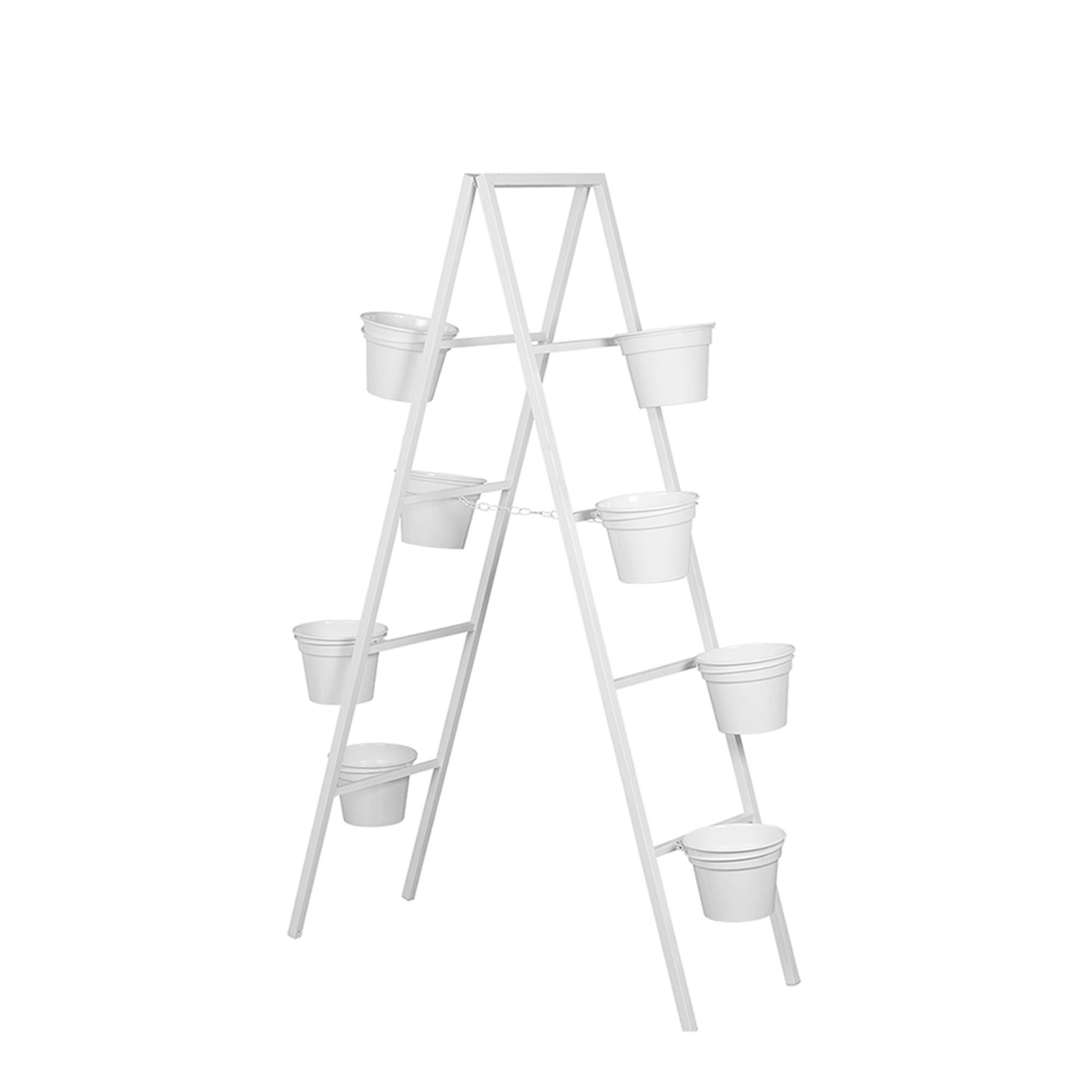 Escada Grande c/ 8 Vasos Aluminio