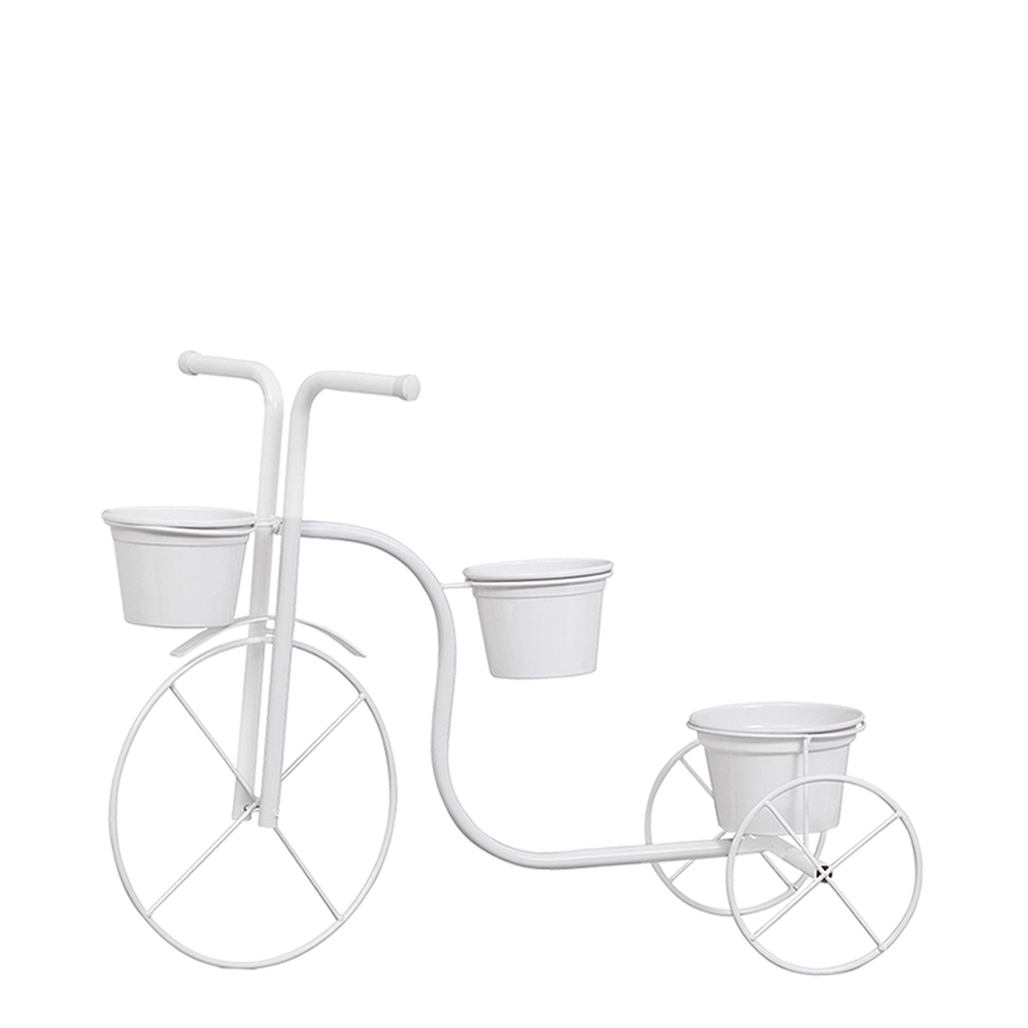 Bicicleta Chão c/ 3 Vasos Aluminio
