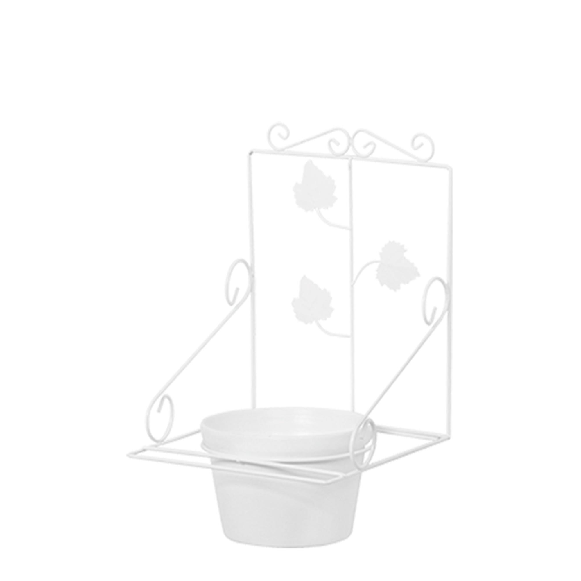 Floreira de Parede c/ 1 Vaso Redondo