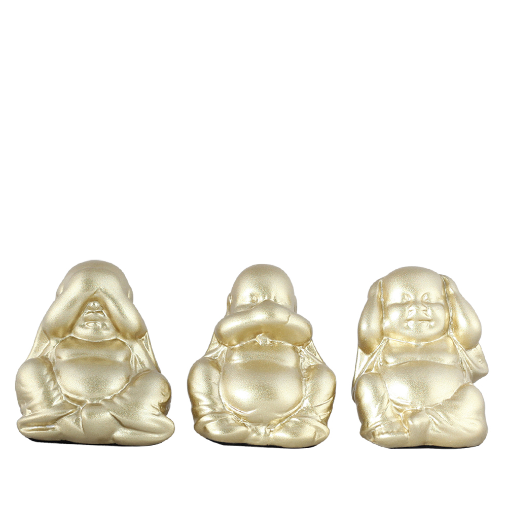 Trio de Buda Maior Cerâmica