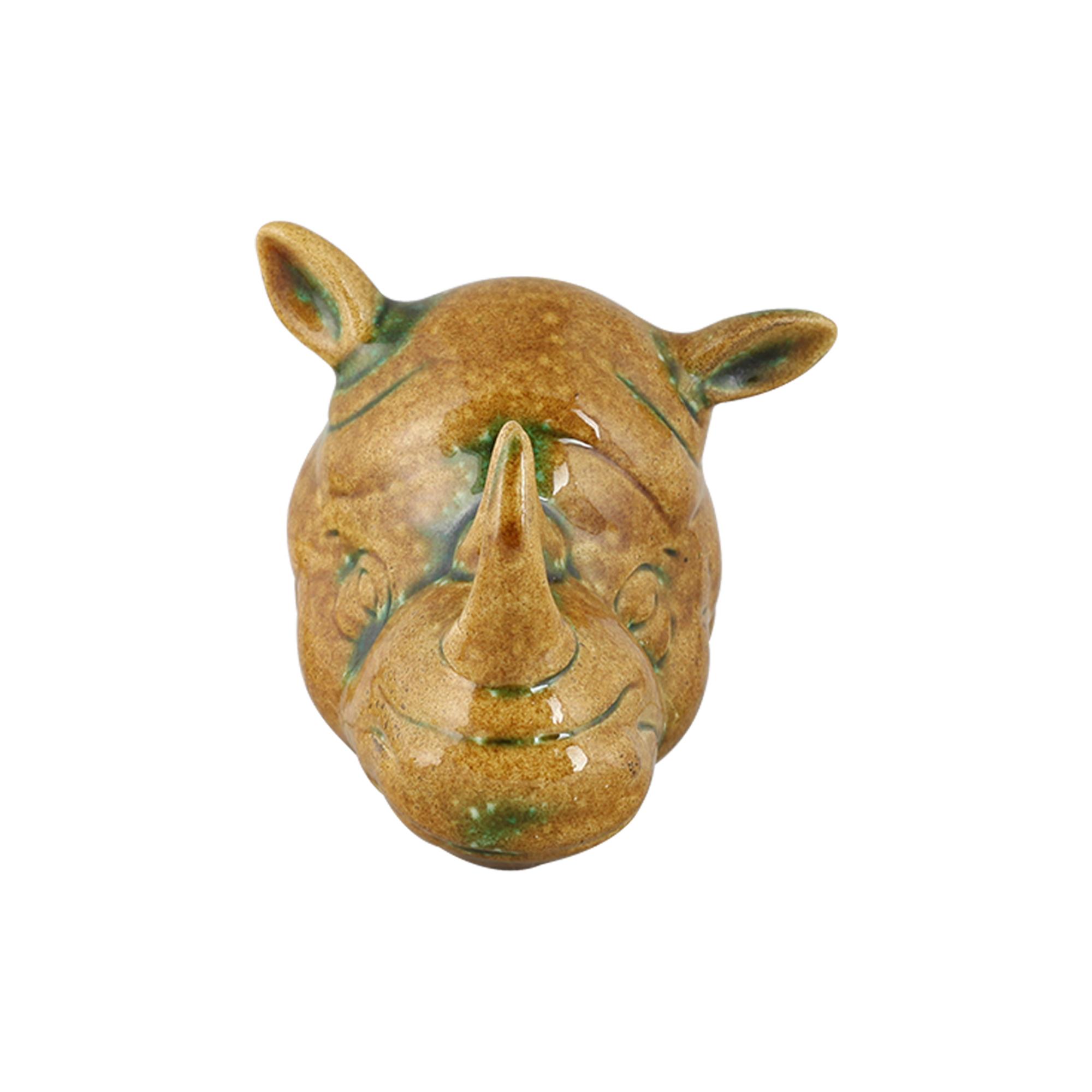 Cabeça de Rinoceronte Cerâmica