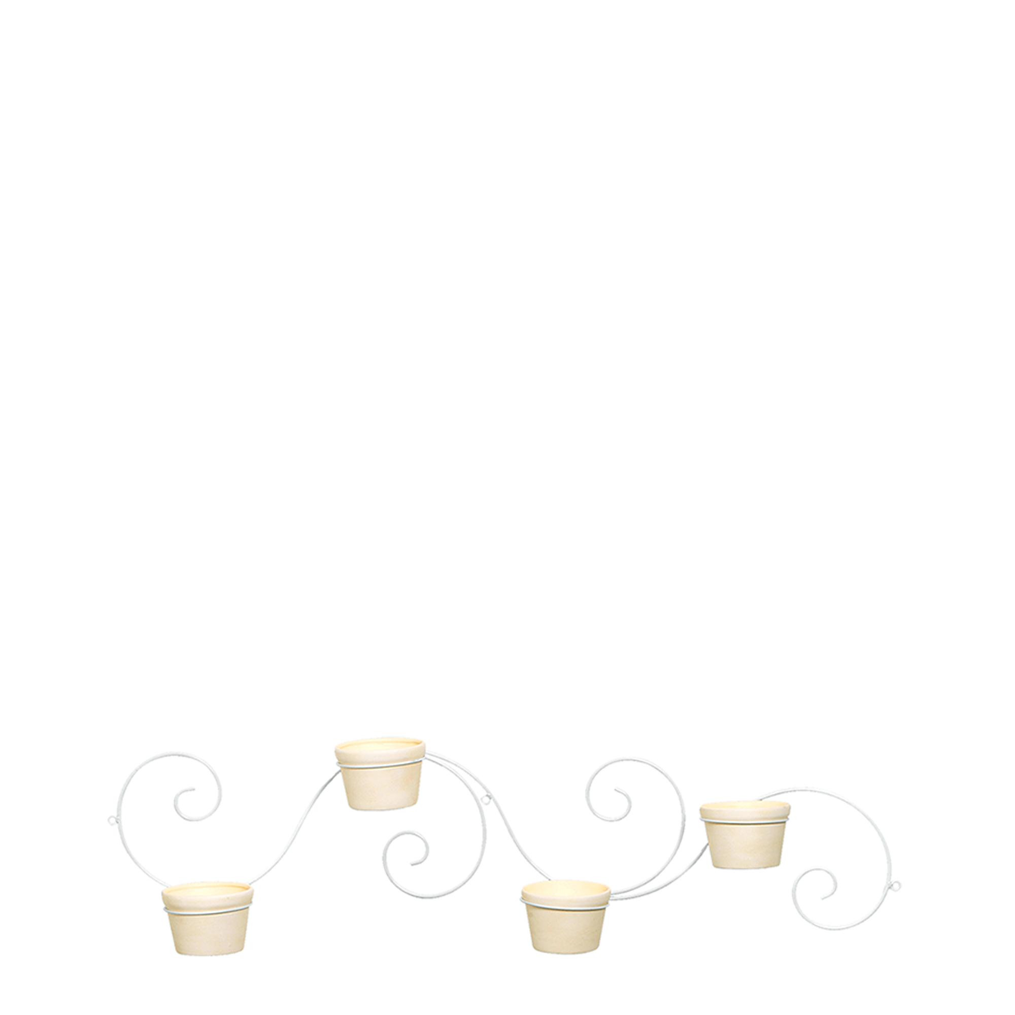 Suporte Caracol Horizontal c/ 4 Vasos Redondo
