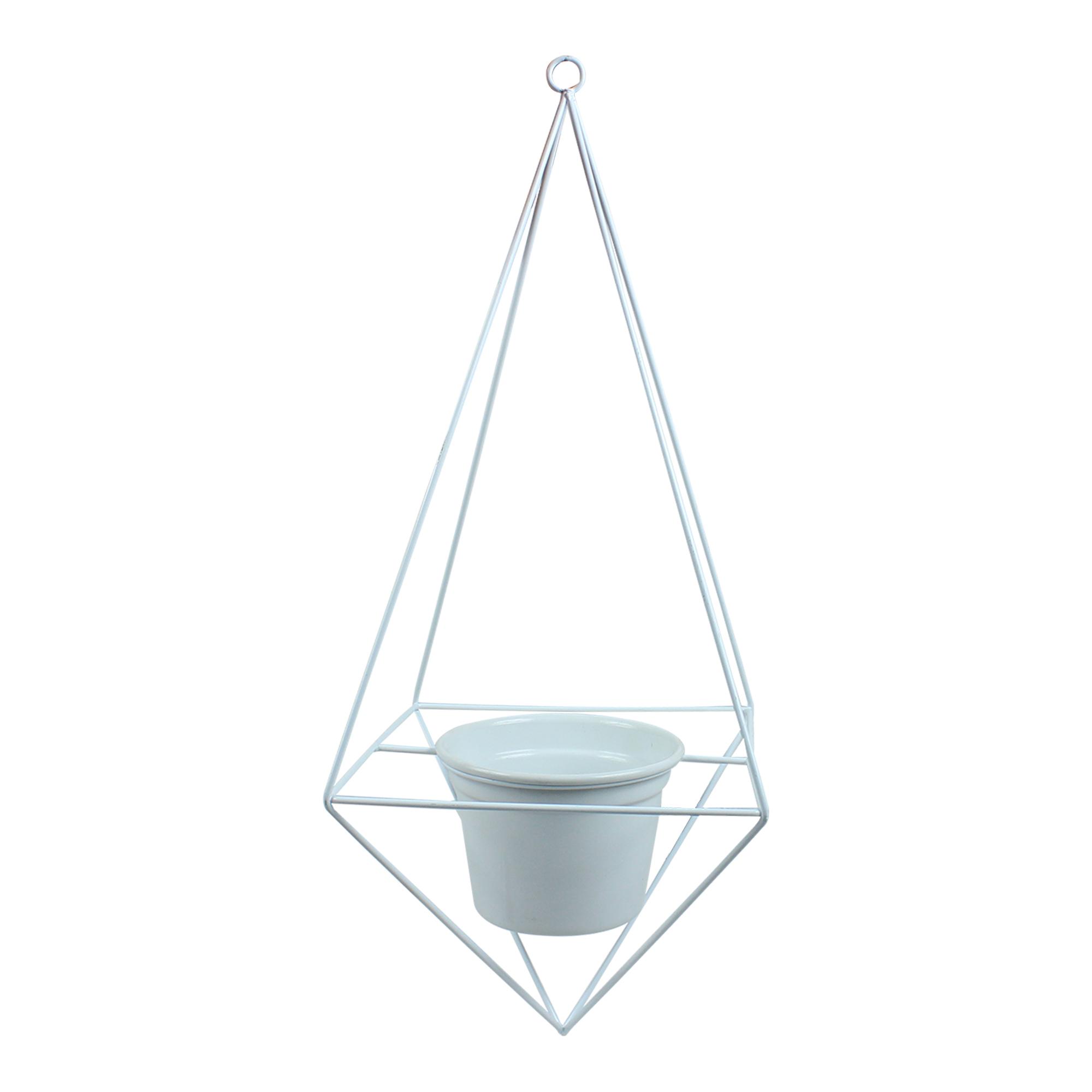 Suporte Aramado Pirâmide Teto 1 Vaso