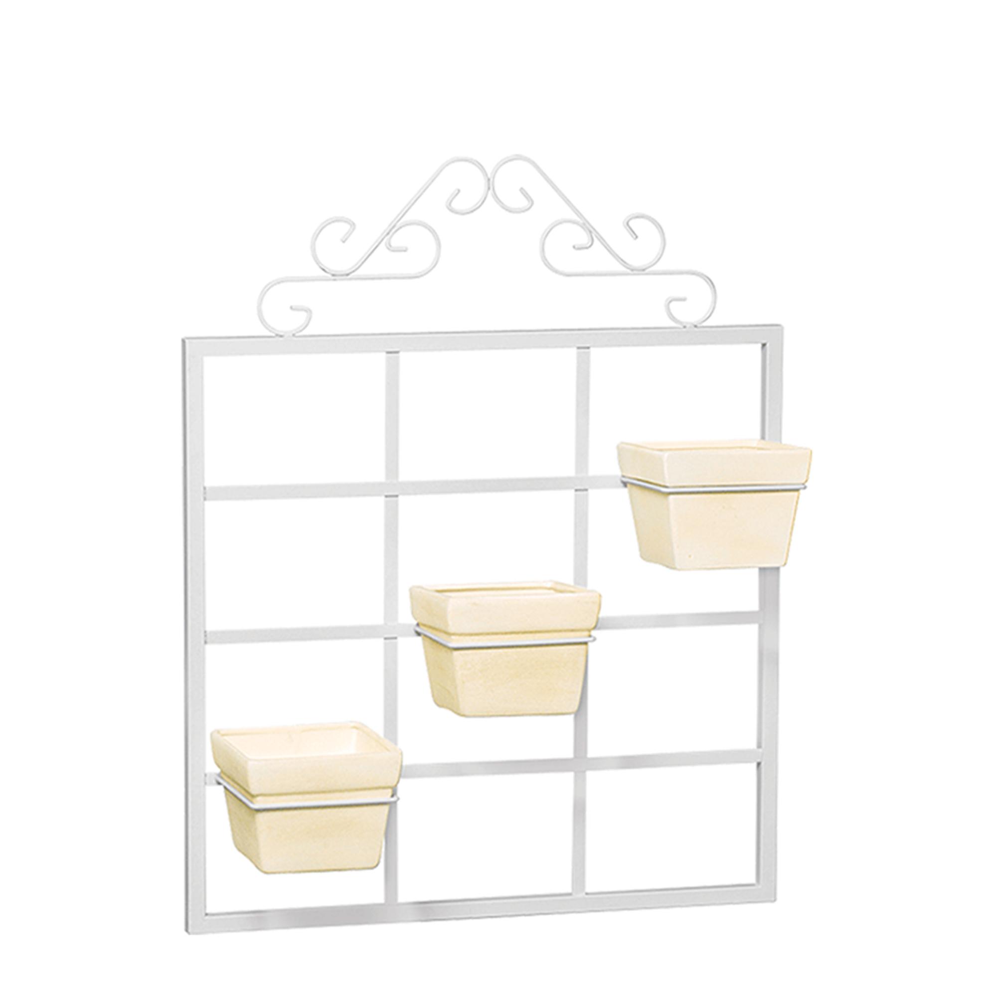 Porta Vaso Vertical c/ 3 Vasos Quadrado