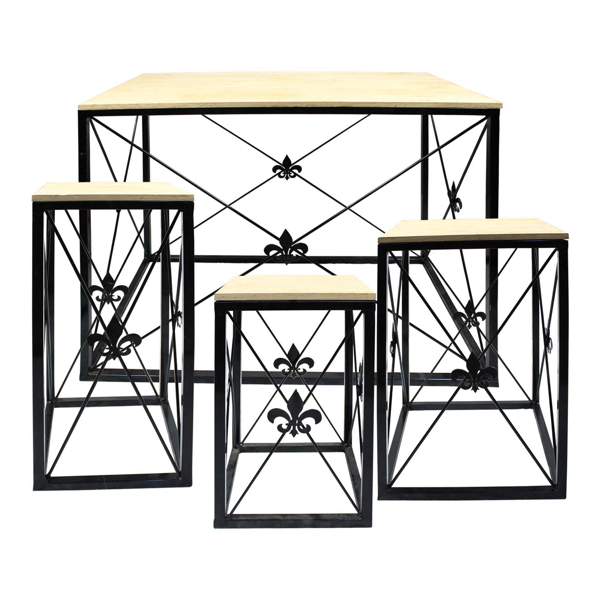 Jogo Mesa Garden Quadrado 4 peças