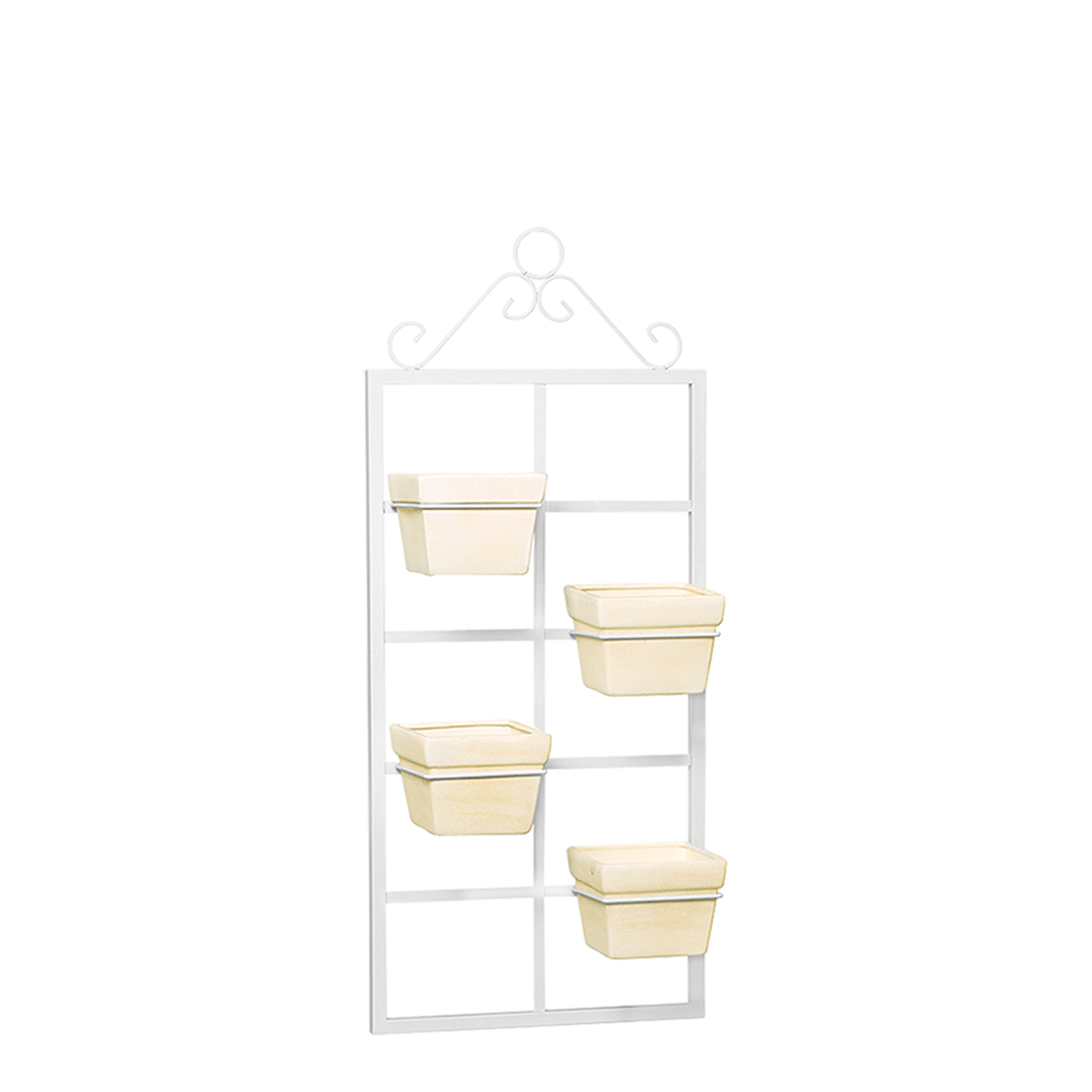 Porta Vaso Vertical c/ 4 Vasos Quadrado