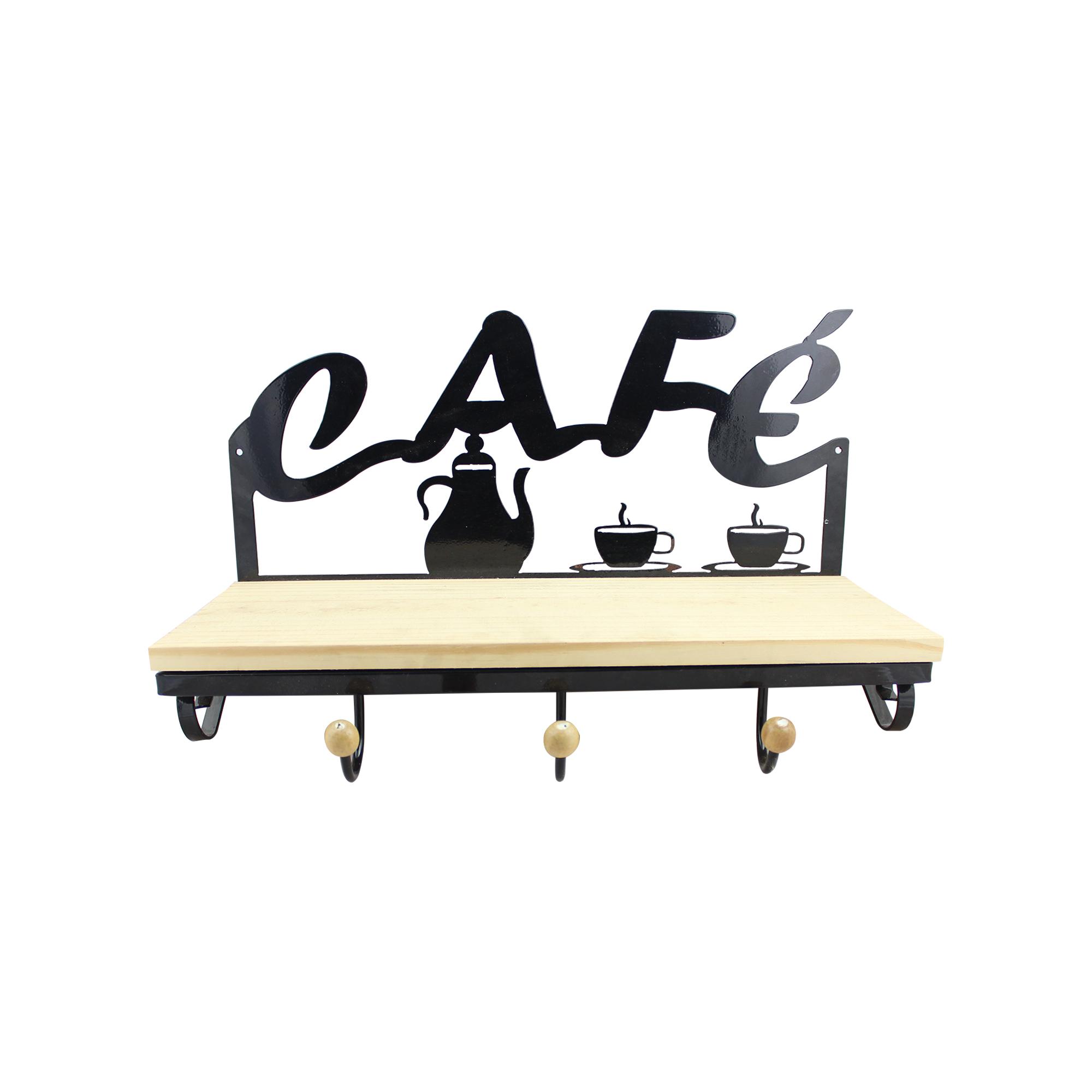 Prateleira Café com Porta Toalha
