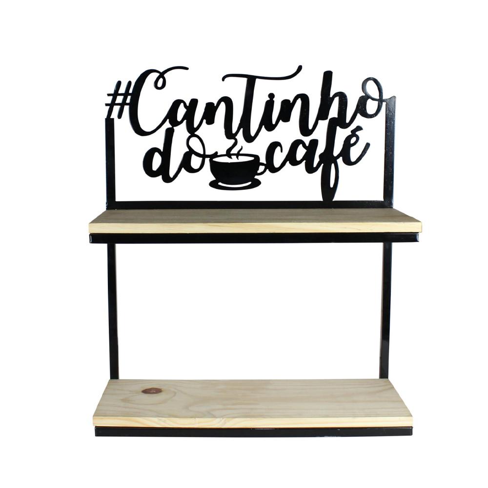 Prateleira de Parede 2 partes #Cantinho do Café