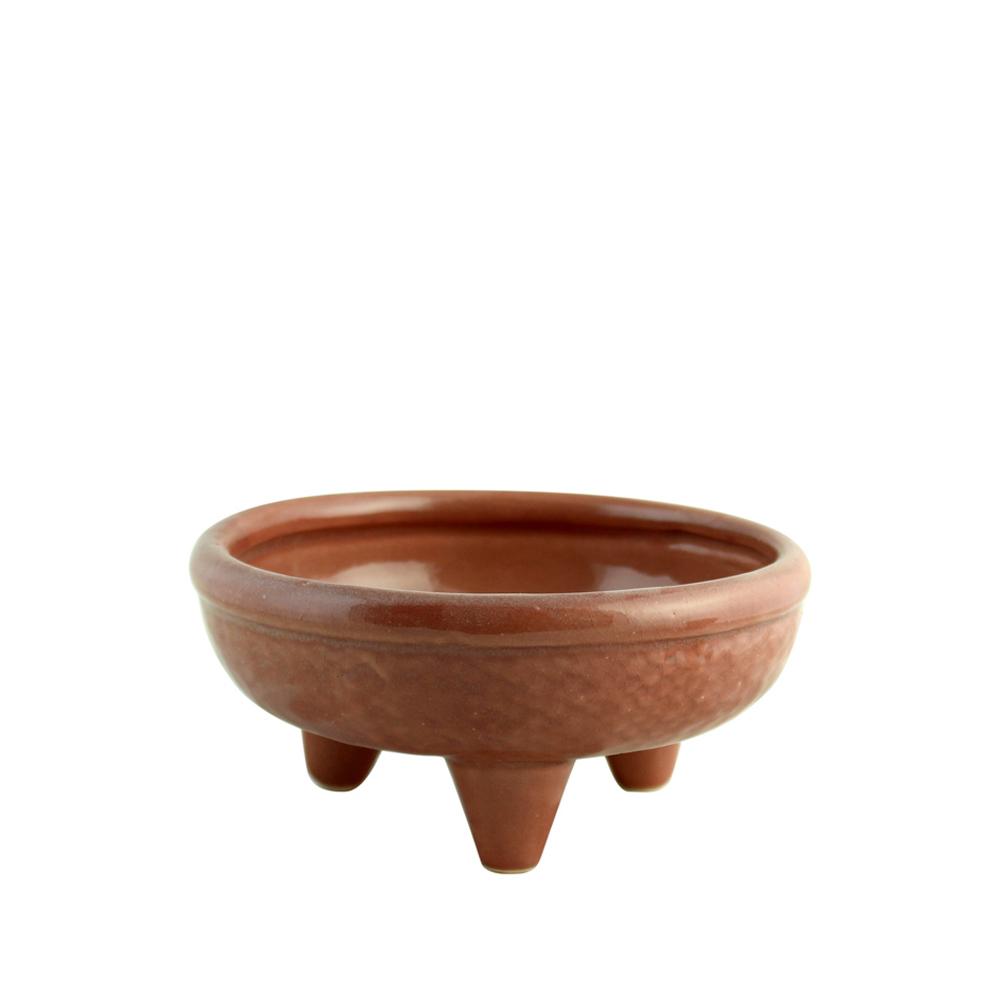 Bacia Redonda com Pé de Cerâmica (P)