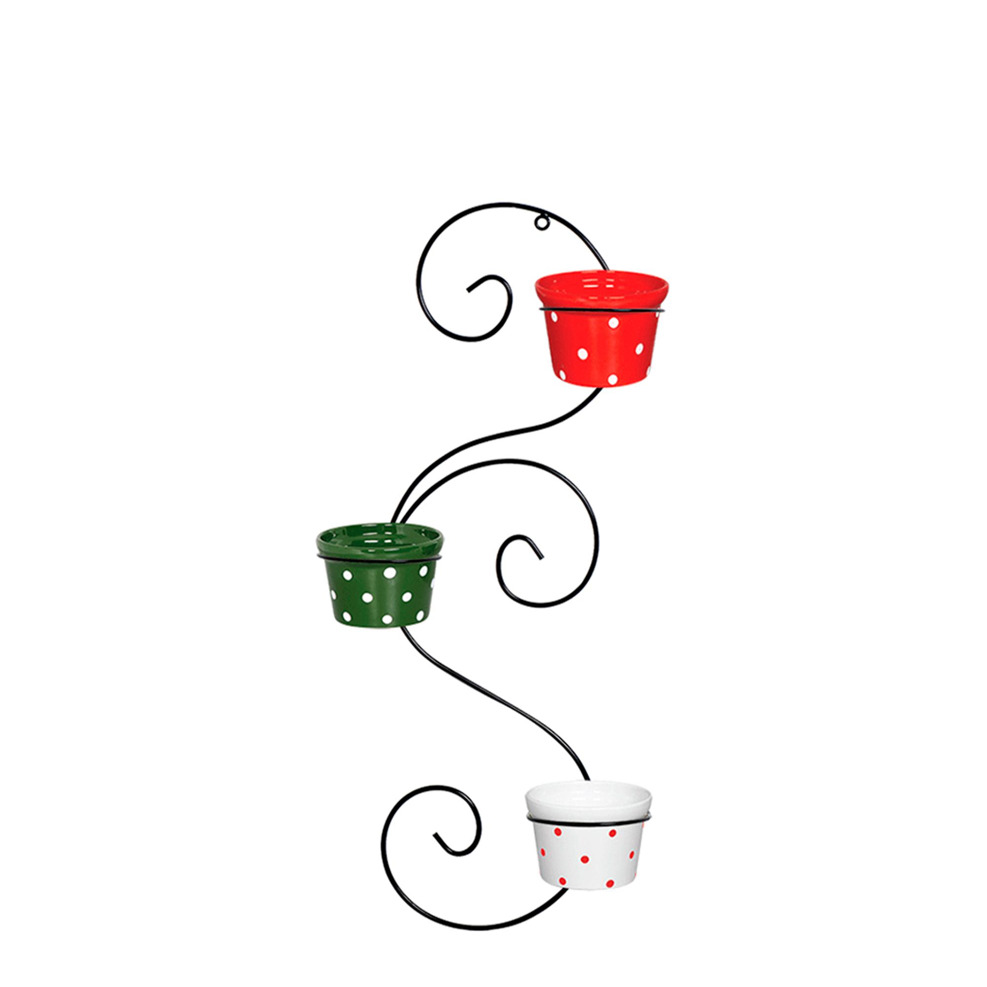 Suporte Caracol Vertical c/ 3 Vasos Redondo