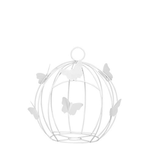 Gaiola Redonda Borboleta Pequena