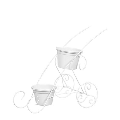 Carrinho c/ 2 Vasos Aluminio