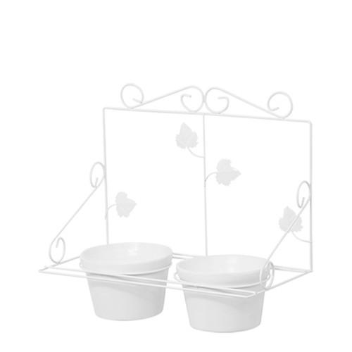 Floreira de Parede c/ 2 Vasos Redondo