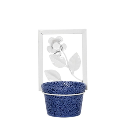 Suporte Moldura Flor Vertical c/ 1 Vaso