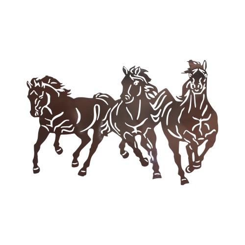 Moldura de Ferro com Cavalos