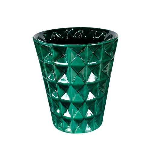 Vaso de Chão Ondulado Detalhe X
