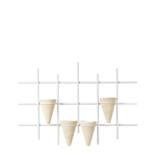 Suporte Trepadeira Horizontal c/ 4 Vasos Cone
