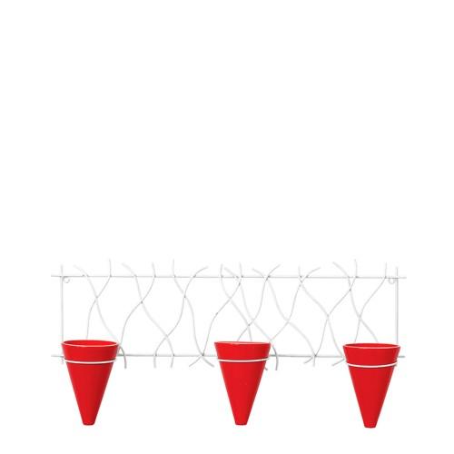 Suporte Formigueiro Horizontal c/ 3 Vasos Cone